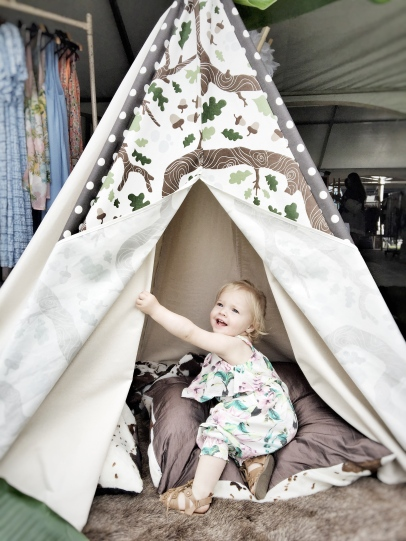 So in love with this woodland themed teepee from TotemTeepee